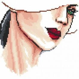Zahlmuster online - Damenporträt