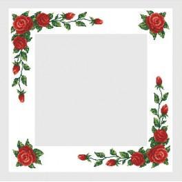 Zahlmuster online - Tischdecke mit roten Rosen - B. Sikora