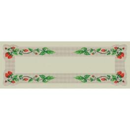 Zahlmuster online - Tischläufer mit Erdbeeren