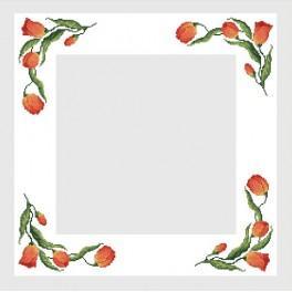 Zahlmuster online - Tischdecke mit Tulpen - B. Sikora-Malyjurek