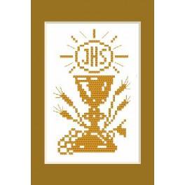 W 4443 Zahlmuster online - Kommunion-Karte - B. Sikora