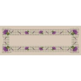 Zahlmuster online - Tischläufer mit Lavendel - B. Sikora-Malyjurek