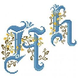 Zahlmuster online - Monogramm H - B. Sikora-Malyjurek