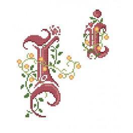 Zahlmuster online - Monogramm I - B. Sikora-Malyjurek