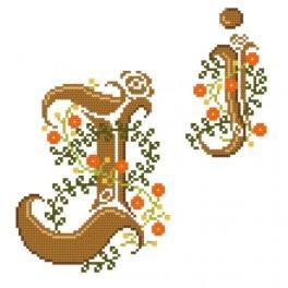 Zahlmuster online - Monogramm J - B. Sikora-Malyjurek
