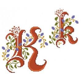 Zahlmuster online - Monogramm K - B. Sikora-Malyjurek