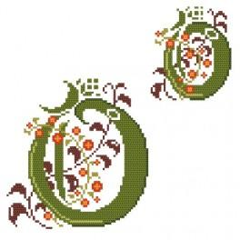 Zahlmuster online - Monogramm O - B. Sikora-Malyjurek
