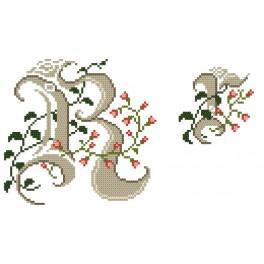 Zahlmuster online - Monogramm R - B. Sikora-Malyjurek