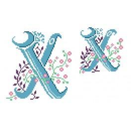 Zahlmuster online - Monogramm X - B. Sikora-Malyjurek