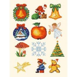 Zahlmuster online - Weihnachtsschmuck
