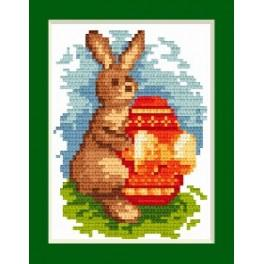 Zahlmuster online - Osternkarte - Hasen
