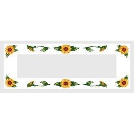 Zahlmuster online - Tischläufer mit Sonnenblumen