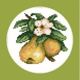 W 4687 Zahlmuster online - Appetitliche Birnen - B. Sikora-Malyjurek