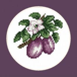 W 4688 Zahlmuster online - Köstliche Pflaumen - B. Sikora-Malyjurek