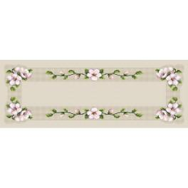 Zahlmuster online - Tischläufer mit Kirschblüte - B. Sikora