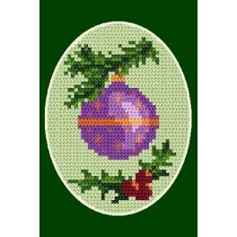 Zahlmuster online - Weihnachtskarte- Christbaumkugel