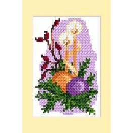 Zahlmuster online - Weihnachtskarte- Weihnachtskranz