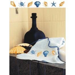 Zahlmuster online - Handtuch mit Muscheln