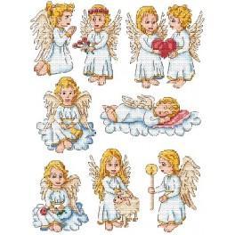 Zahlmuster online - Kleine Engel
