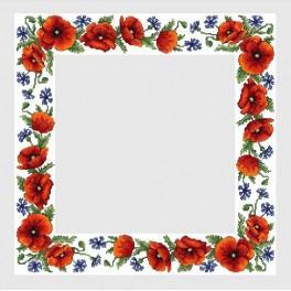 Zahlmuster online - Tischdecke mit Feldblumen