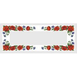 Zahlmuster online - Tischläufer mit Feldblumen