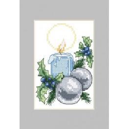 Zahlmuster online - Weihnachtskarte- Kerze