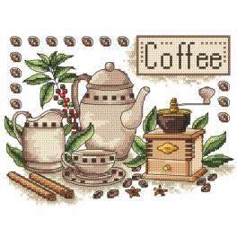 W 4882 Zahlmuster online - Kaffee