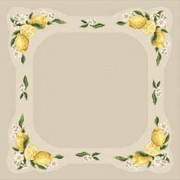 W 4897 Zahlmuster online - Tischdecke mit Zitronen