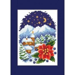 Zahlmuster online - Weihnachtskarte - Landschaft