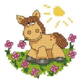 Zahlmuster online - Pferdchen