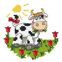 Zahlmuster online - Kleine Kuh