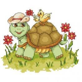 Zahlmuster online - Lustige Schildkröte