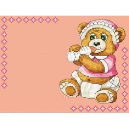 W 4936-01 stickvorlage ONLINE pdf - Geburt eines Kindes - Mädchen