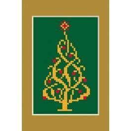 Zahlmuster online - Weihnachtskarte - Glänzender Weihnachtsbaum
