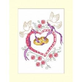 Zählmuster online - Hochzeitskarte - Trauringe