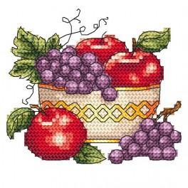 W 4964 Zahlmuster online - Schüssel mit Äpfeln