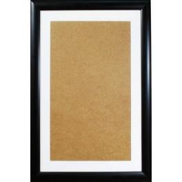 Holzrahmen – schwarz – weißes Passe-partout (32,6x52,1cm)