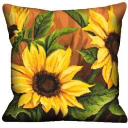 Zahlmuster online - Kissen mit Sonnenblumen