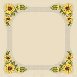 Zahlmuster online - Tischdecke mit Sonnenblumen