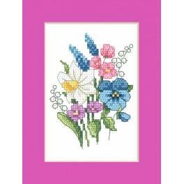 W 8625-03 stickvorlage ONLINE pdf - Osternkarte - Frühlingsstrauß