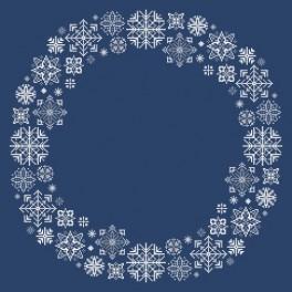 Zahlmuster online - Serviette mit Schneeflocken
