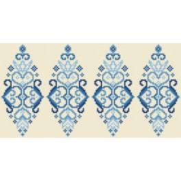 Zahlmuster online - Osterei - Blaue Arabeske
