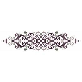 Zahlmuster online - Kissen - Blumen mit Arabeske