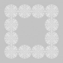 W 8853 Zahlmuster online - Schneeflockenserviette