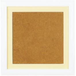 Ramka drewniana - kolor biały - ecru psp