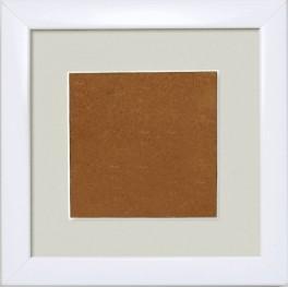 S 157005-1313-178 Holzrahmen – weiß – graues Passepartout (13,2x13,2cm)
