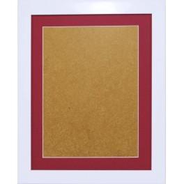 Ramka drewniana - kolor biały - wrzosowe psp