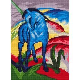 Blaues Pferd - F. Marc - Zählmuster