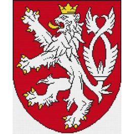 Das Staatswappen der Tschechischen Republik - Zählmuster