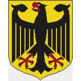 Das Staatswappen der Bundesrepublik Deutschland - Zählmuster